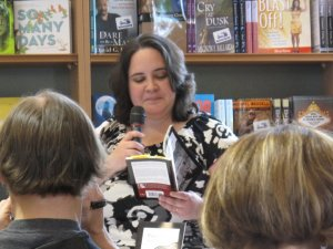 Jessie Carty at a book signing