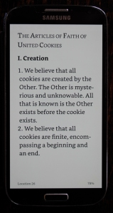 first page of a short story on the screen of a smartphone