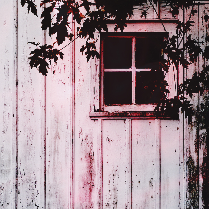 stylized photo of barn window