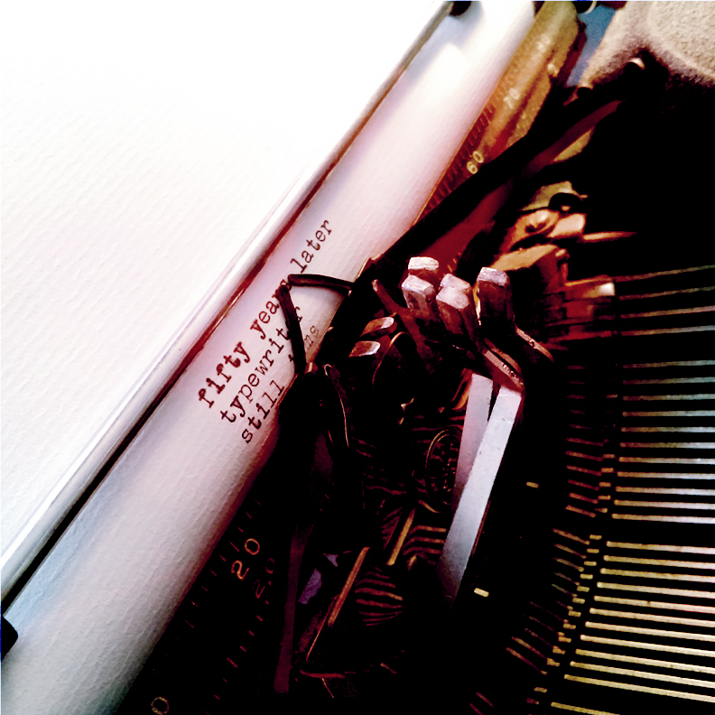photo of jammed typewriter