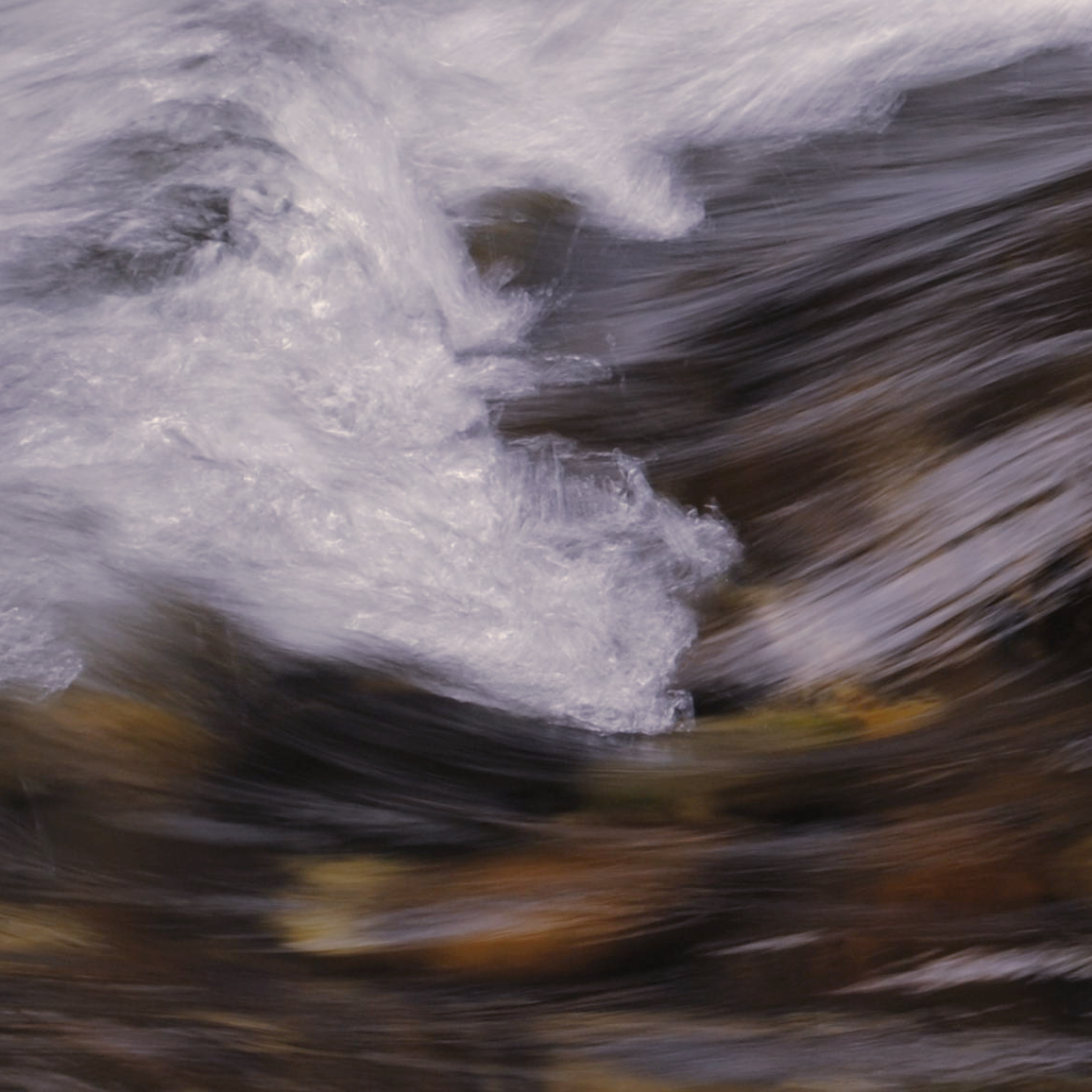 long exposure of river rapids