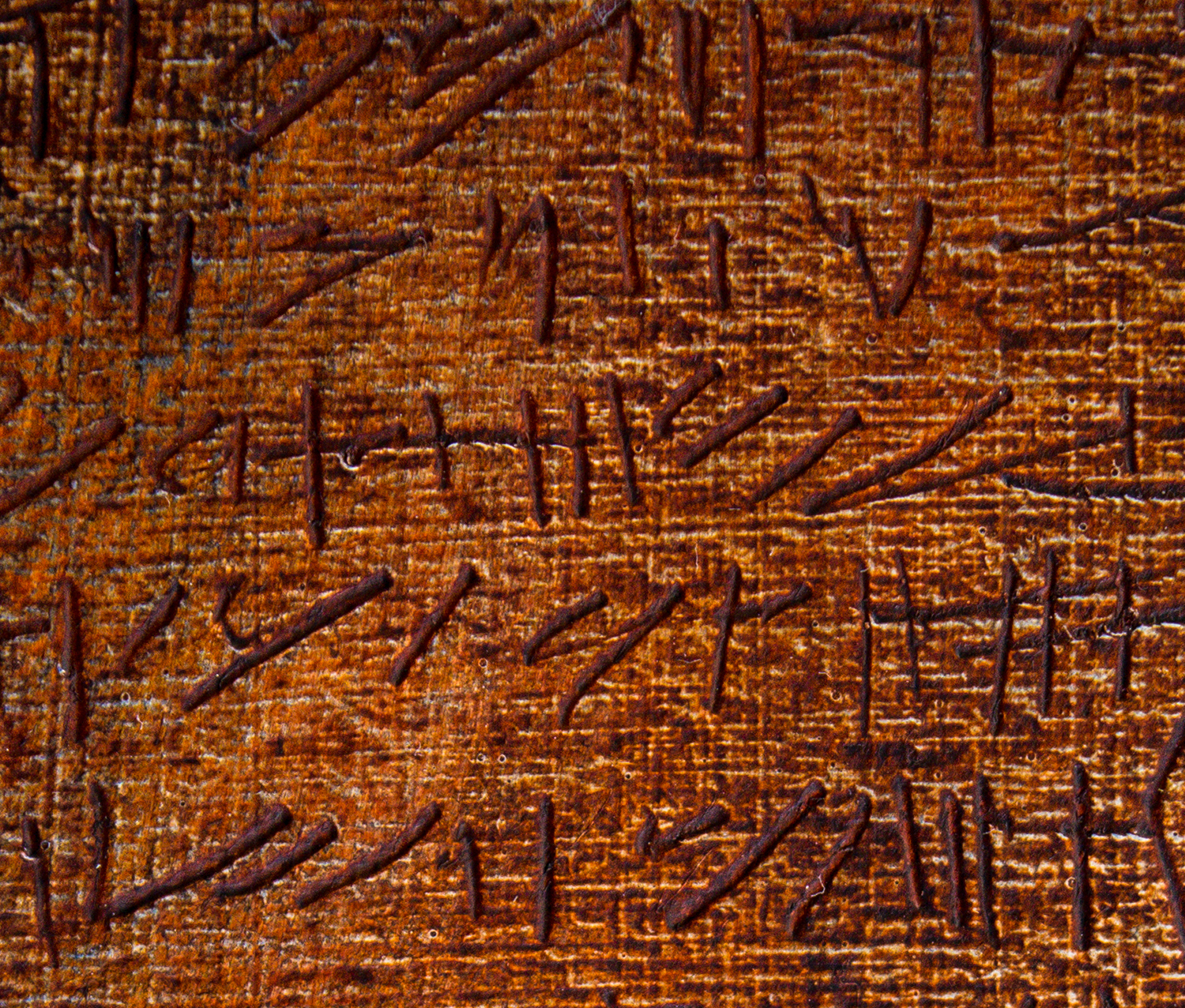abstract characters on papyrus