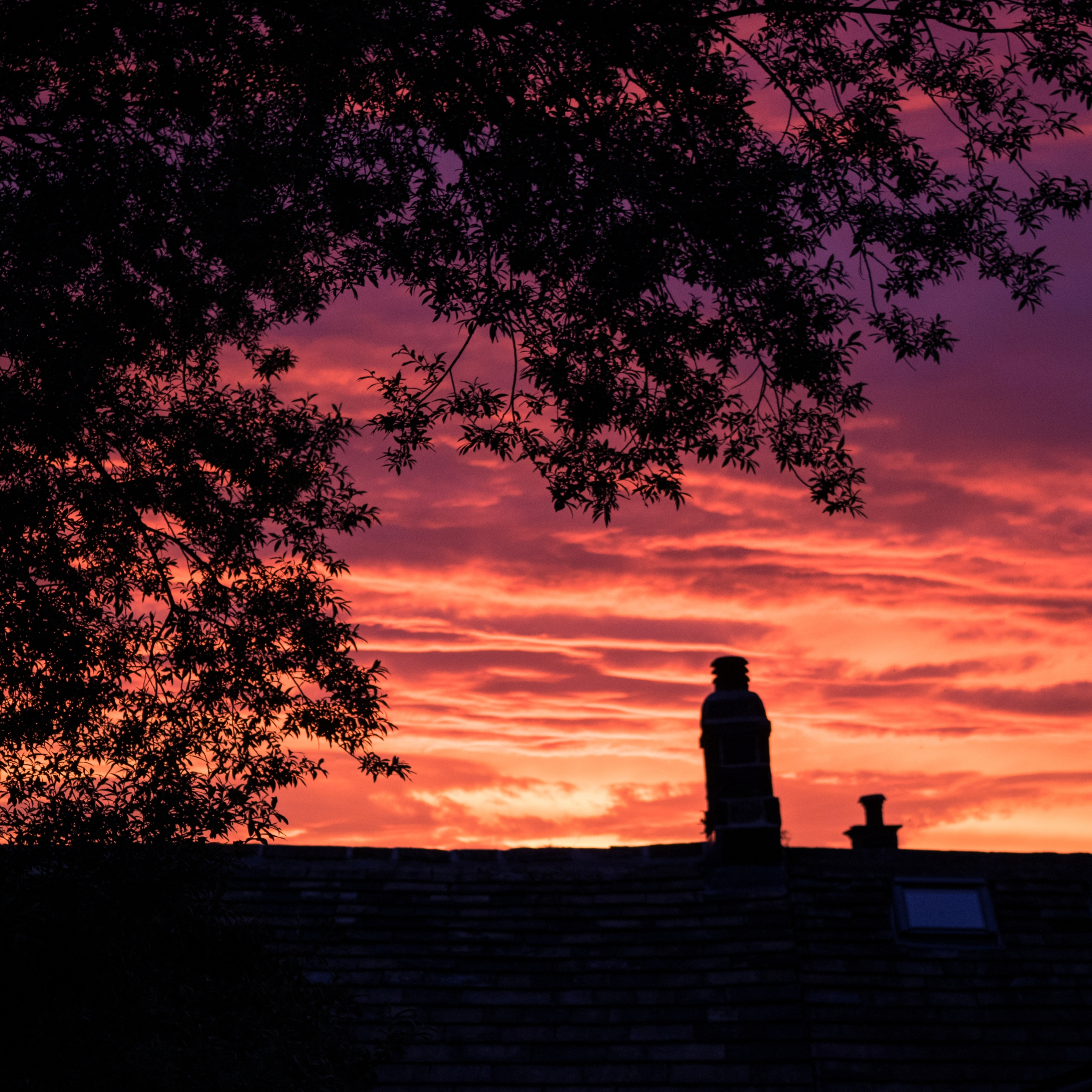 sunset over Grassington UK