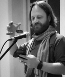 Ben Moeller-Gaa reading a haiku