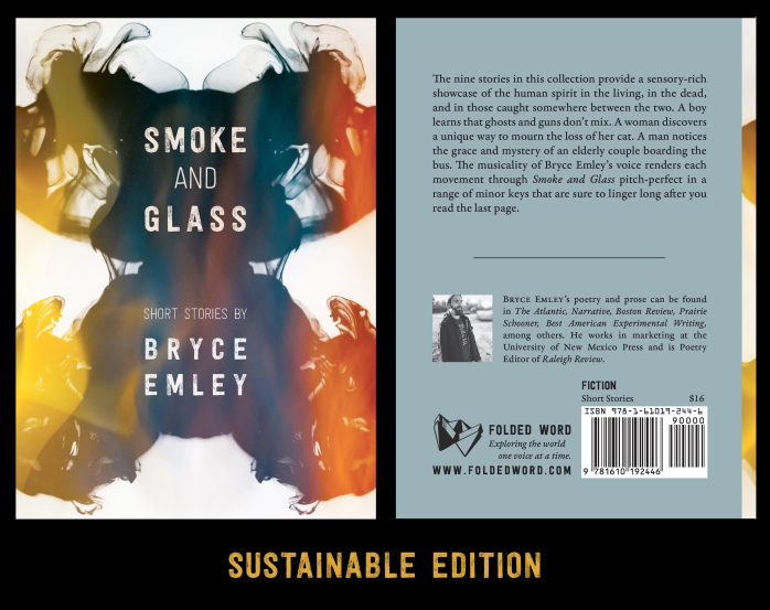 front and back cover of Smoke and Glass by Bryce Emley