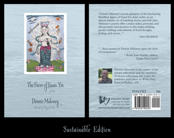 front and back cover of Dennis Maloney's The Faces of Guan Yin