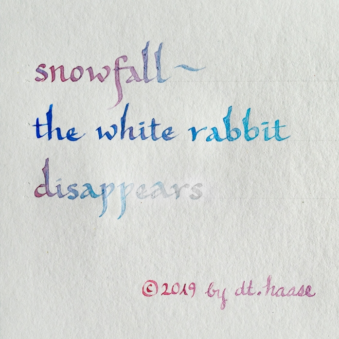 calligraphy of haiku by dt.haase