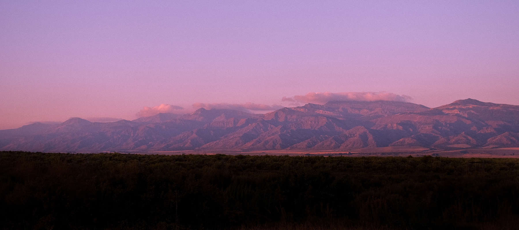 desert mountains at sunrise